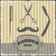 Barber Shop Vintage Retro Template - GraphicRiver Item for Sale