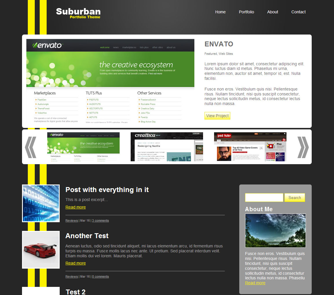 Free Download Suburban Portfolio Theme Nulled Latest Version