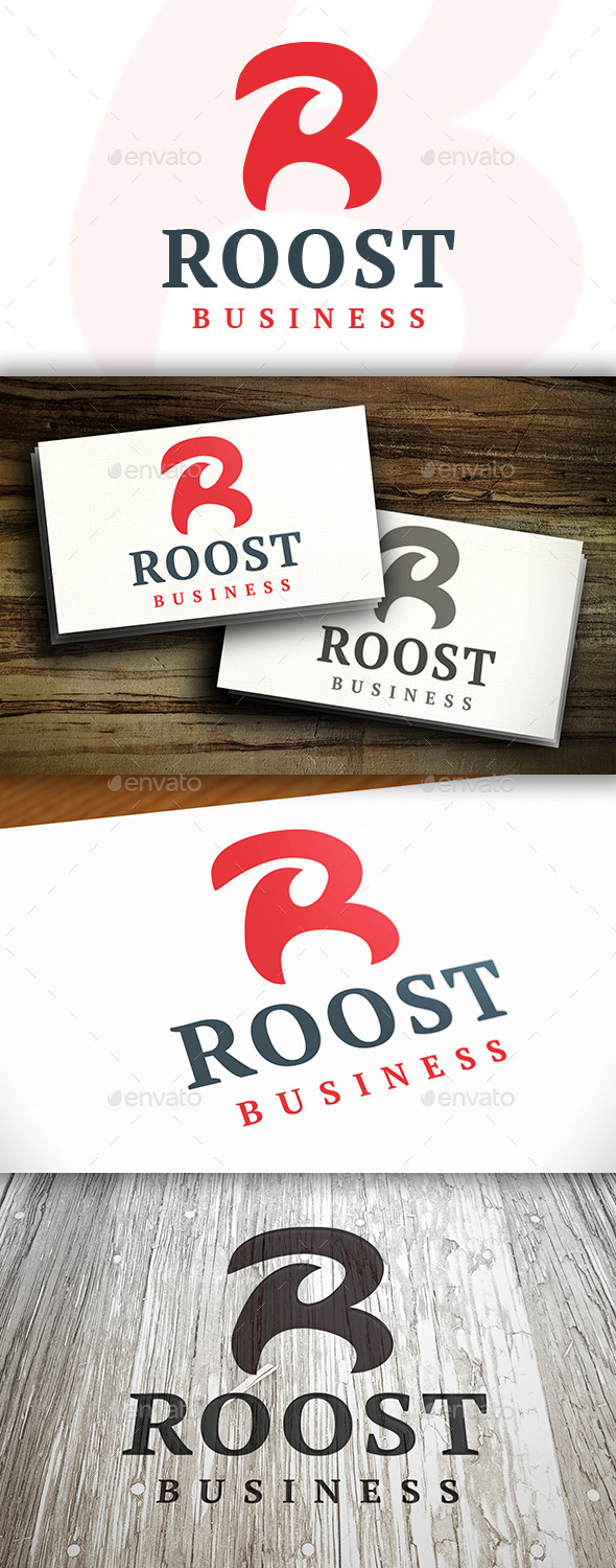 Roost R Letter Logo - Letters Logo Templates