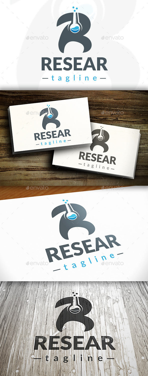 Research R Letter Logo - Letters Logo Templates