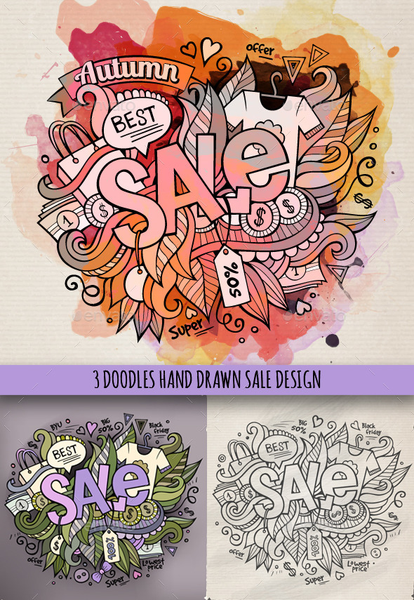 Sale Doodles Designs - Commercial / Shopping Conceptual
