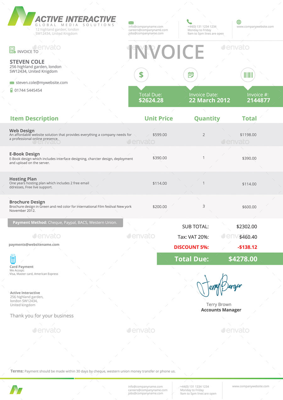 Invoices By Feeltheblue GraphicRiver - Invoice jpg