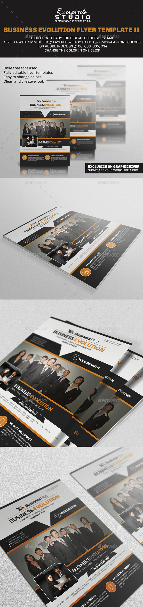 Business Evolution Flyer Template II - Corporate Flyers