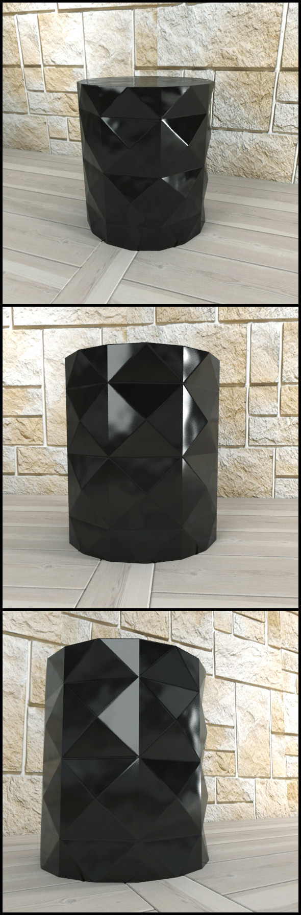 Andrew Martin: Dipoli Side Table (Black) - 3DOcean Item for Sale