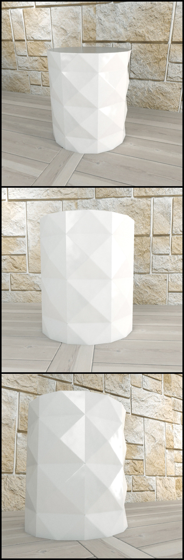 Andrew Martin: Dipoli Side Table (White) - 3DOcean Item for Sale