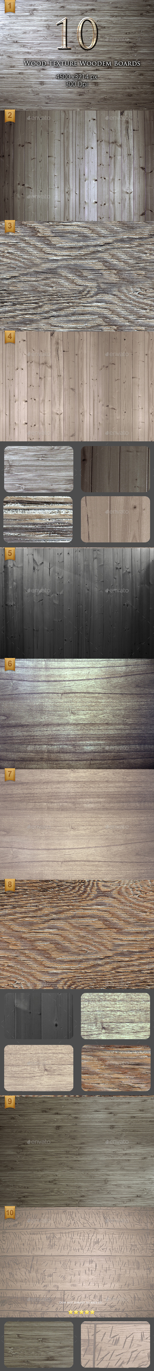 10 Wood Texture Wooden Boards - Wood Textures