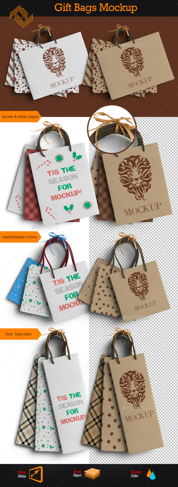 Gift Bags Mockup - Packaging Product Mock-Ups