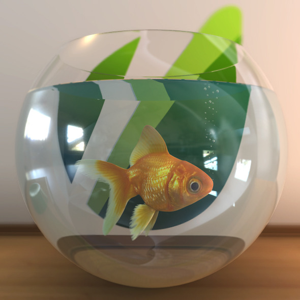 Golden Fish - 3DOcean Item for Sale