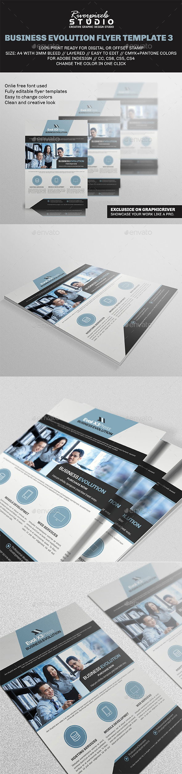 Business Evolution Flyer Template III - Corporate Flyers