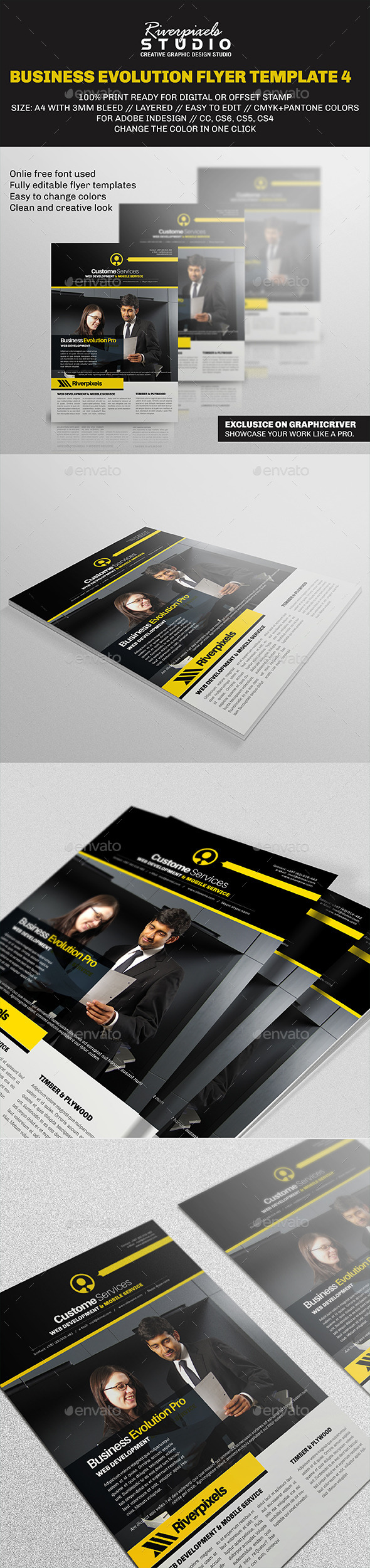 Business Evolution Flyer Template IV - Corporate Flyers