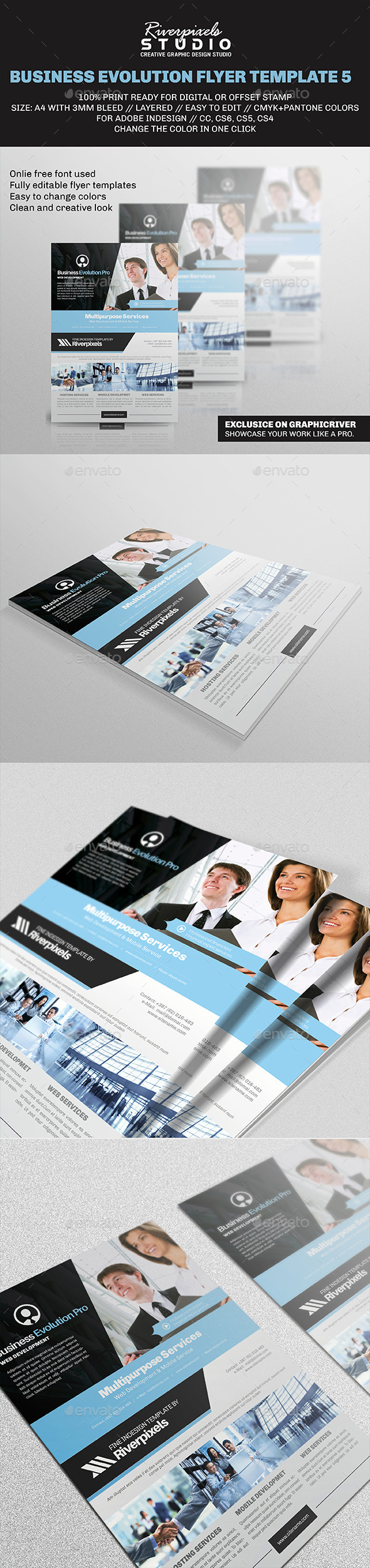 Business Evolution Flyer Template V - Corporate Flyers