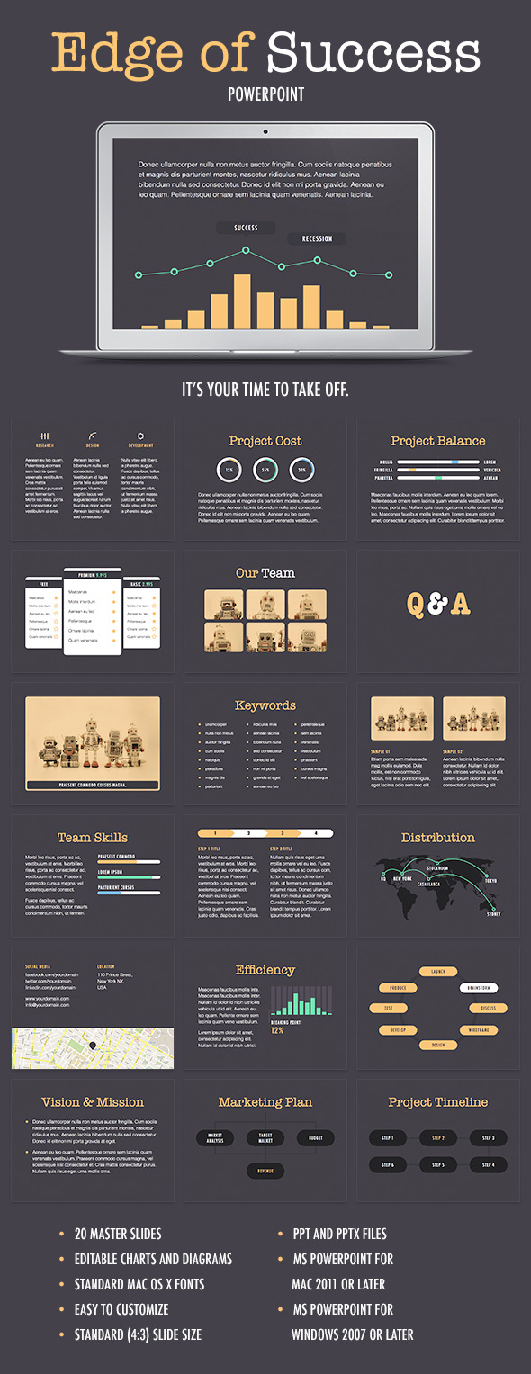 Edge Of Success PowerPoint Template - PowerPoint Templates Presentation Templates