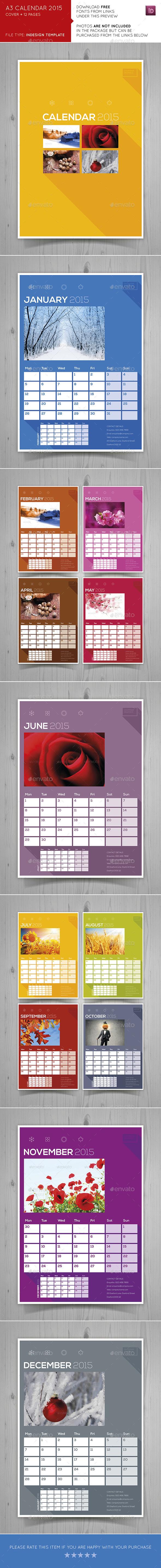 A3 Calendar 2015 - Calendars Stationery