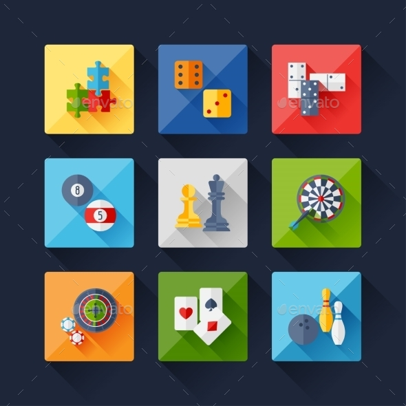 Set of Game Icons - Web Technology