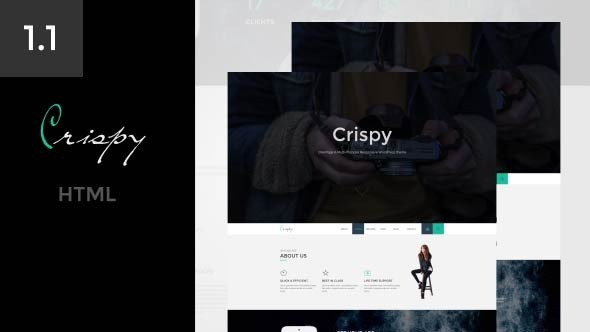 Crispy | One & Multi Page  HTML