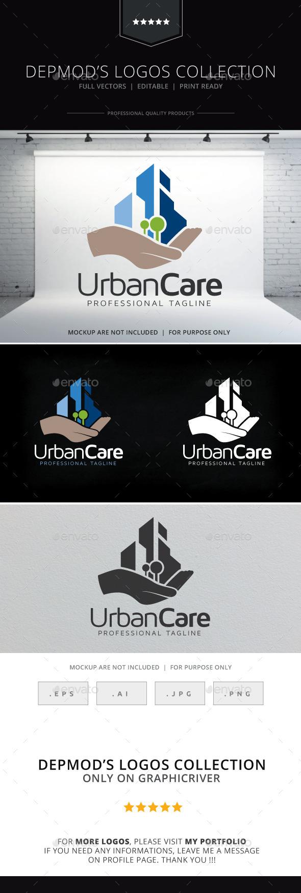 Urban Care Logo - Buildings Logo Templates