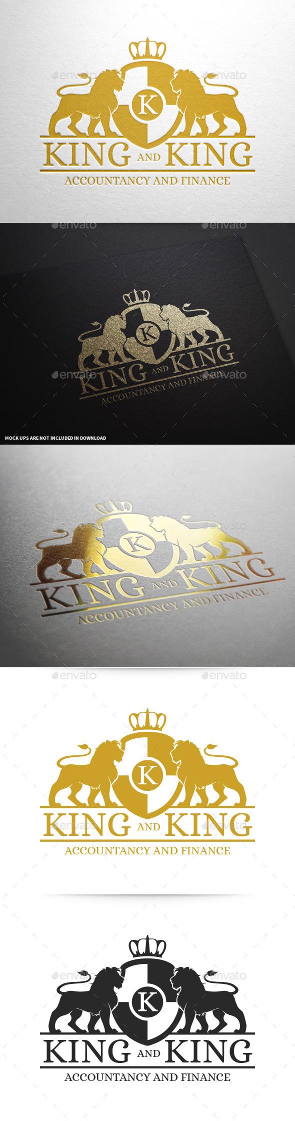 Royal Lion Logo Template v2 - Crests Logo Templates