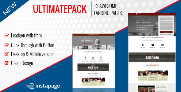 Ultimate Pack - Instapage Landing Pages For Law - Instapage Marketing