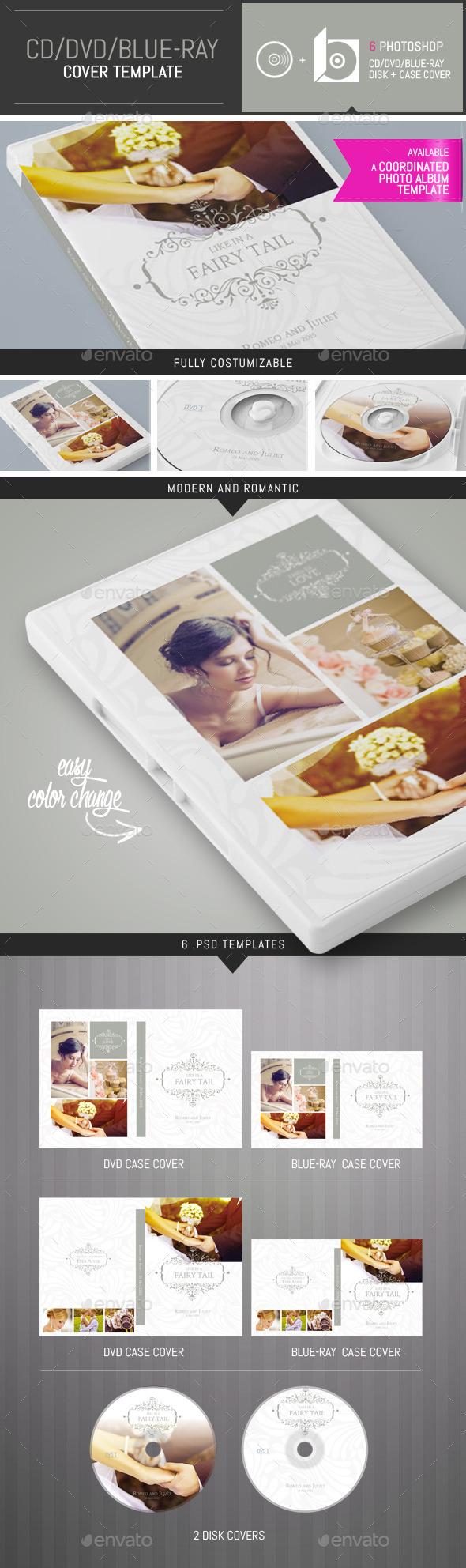 Elegant Wedding DVD / CD Cover Template - CD & DVD Artwork Print Templates