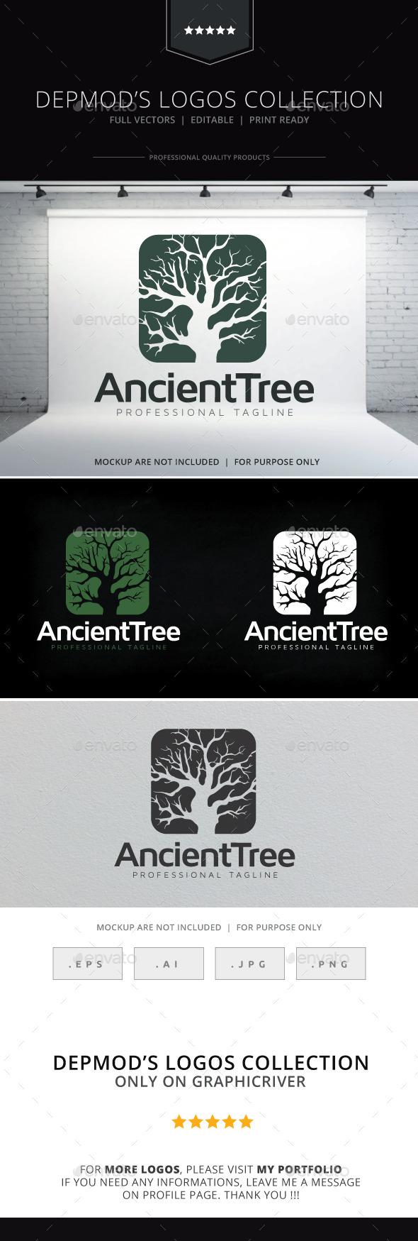 Ancient Tree Logo - Nature Logo Templates