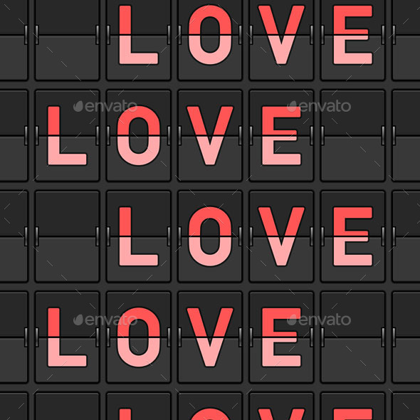 Love Flip Board - Backgrounds Decorative