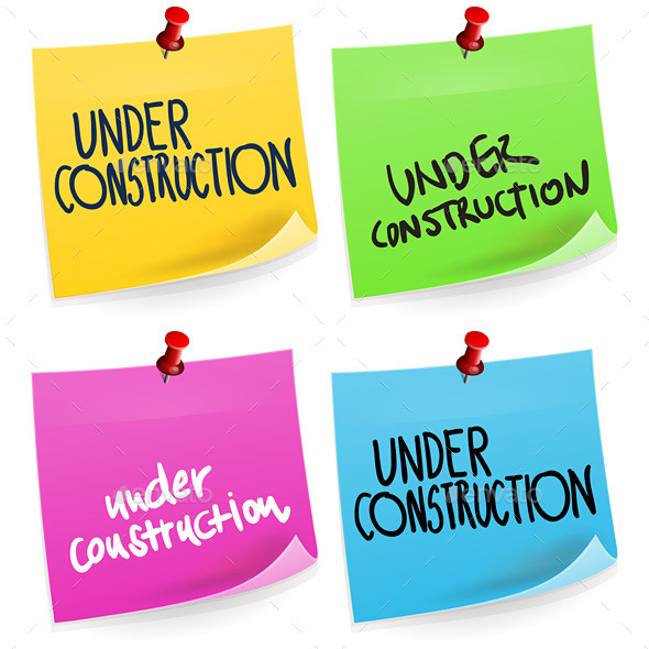 Under Construction Sticky Note - Decorative Symbols Decorative