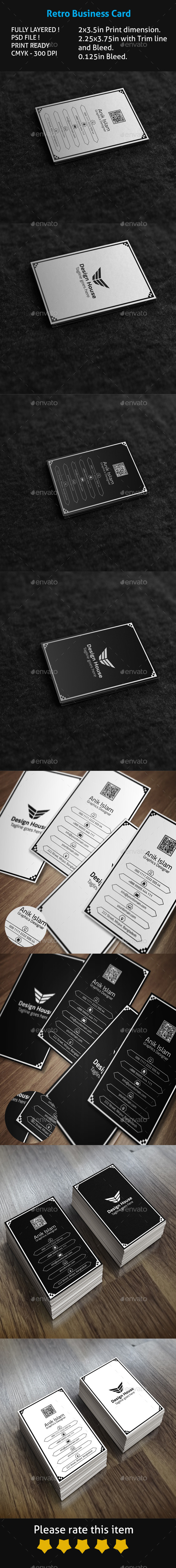 Retro Business Card - Creative Business Cards