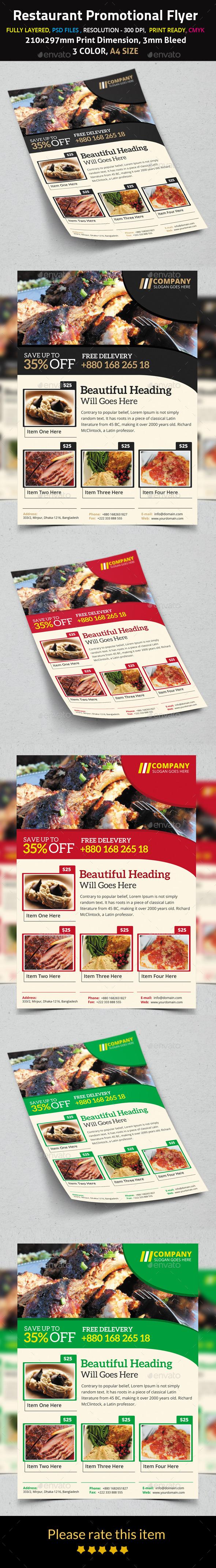 Restaurant Promotional Flyer - Restaurant Flyers