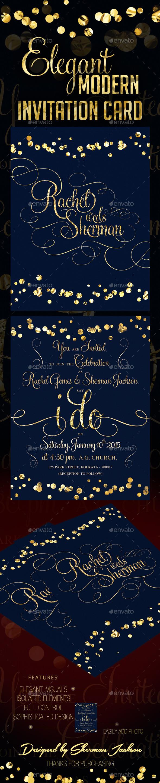 Classy Modern Wedding Invitation - Weddings Cards & Invites