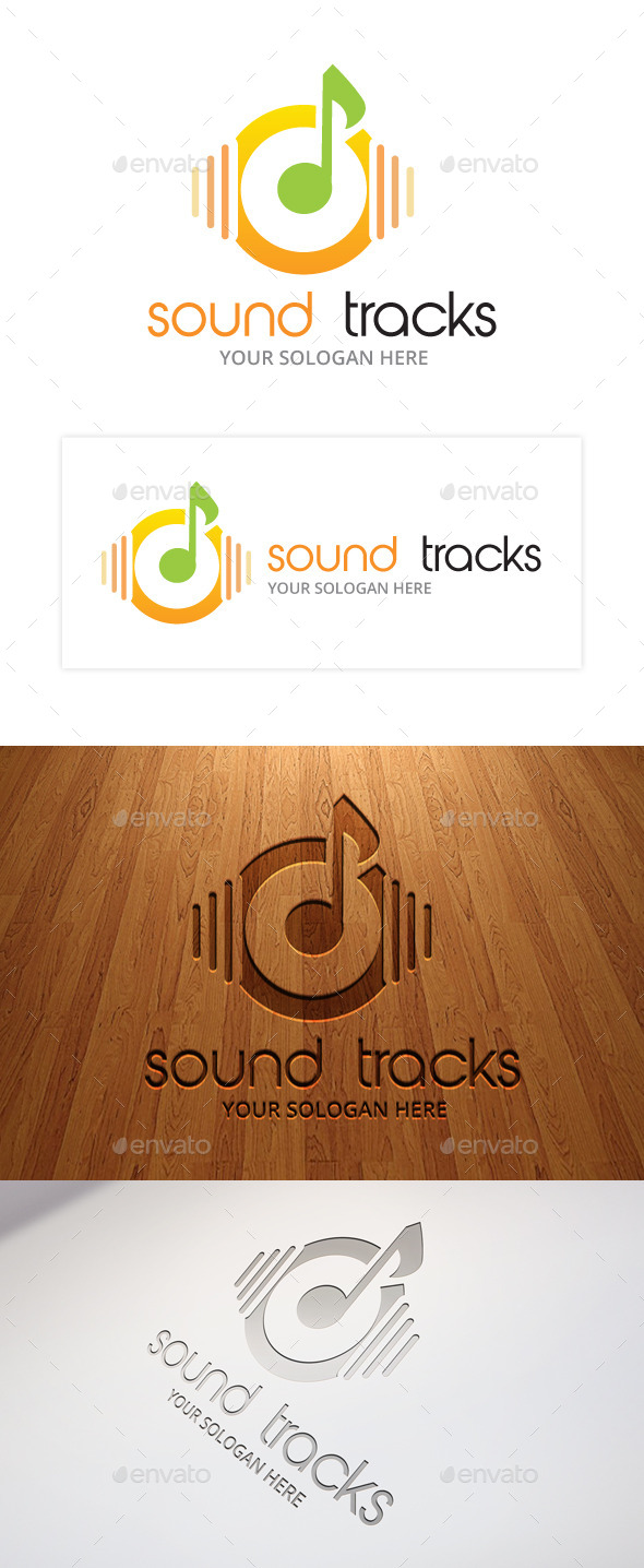Sound Track Logo Template - Objects Logo Templates