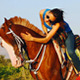 Woman Together With Her Horse - VideoHive Item for Sale