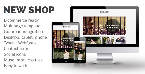 New Shop Muse Template - eCommerce Muse Templates