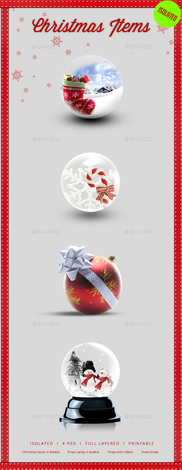 Christmas Isolated Items - Isolated Objects