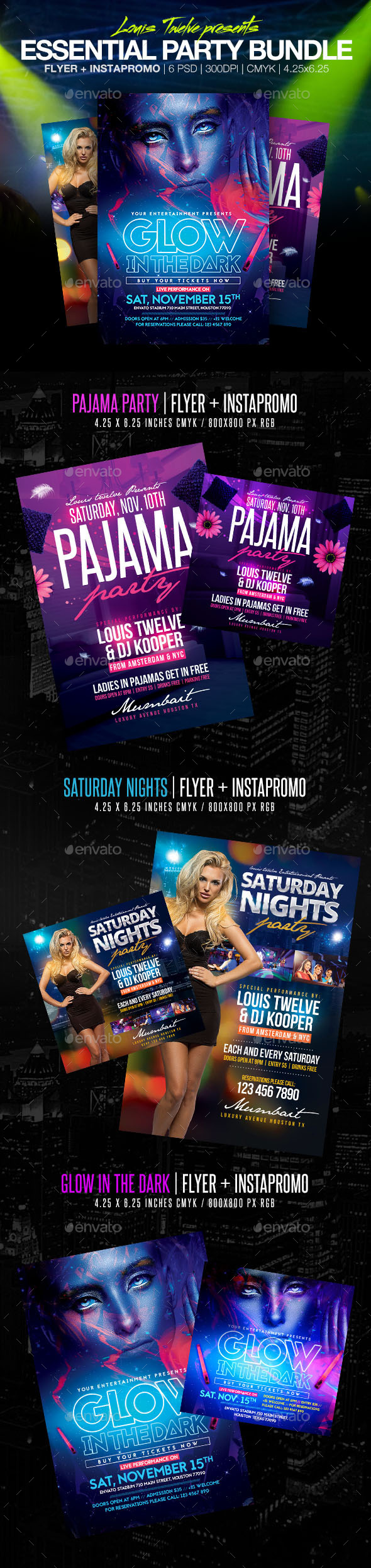 Essential Party Bundle Flyers + Instapromos - Clubs & Parties Events