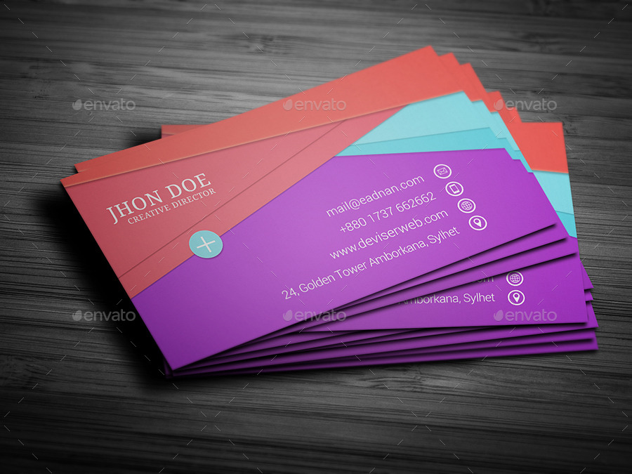 Material Design Business Card Template By Rtralrayhan GraphicRiver - Google design templates
