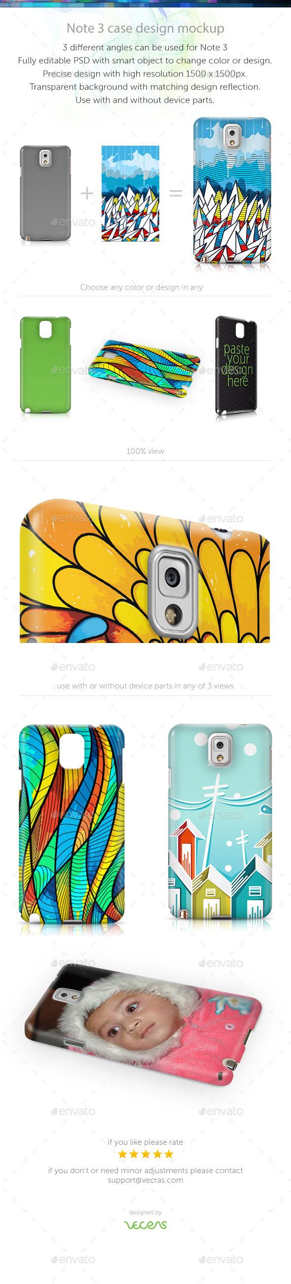 Note 3 Case Design Mockup - Mobile Displays