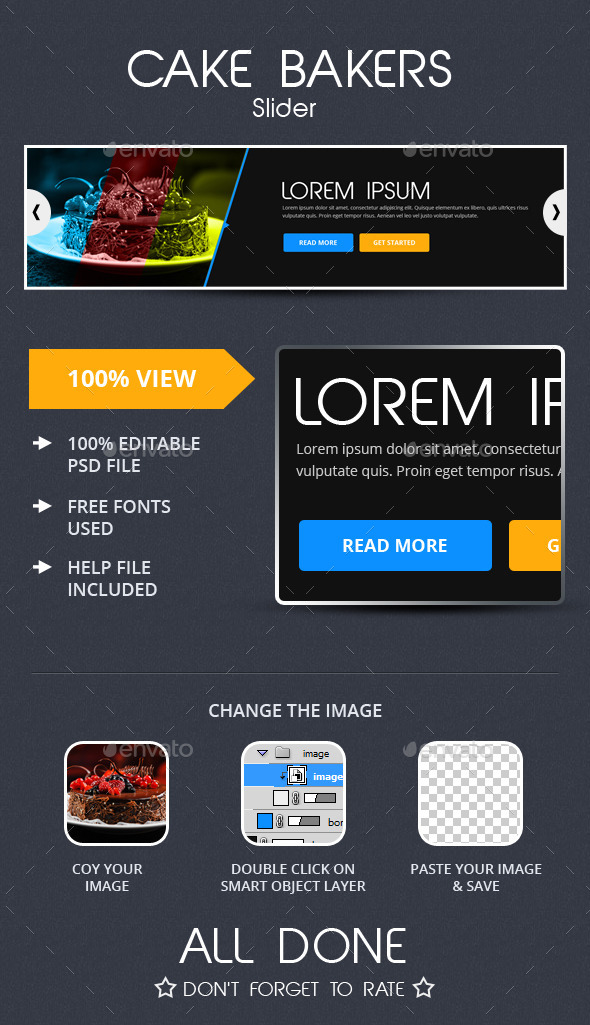 Cake Bakers Slider - Sliders & Features Web Elements