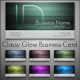 Classy Glow Business Card - GraphicRiver Item for Sale