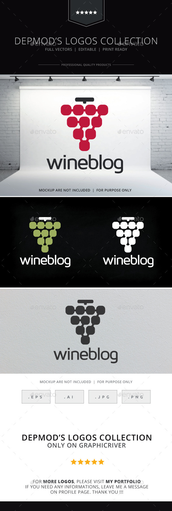Wine Blog Logo - Food Logo Templates