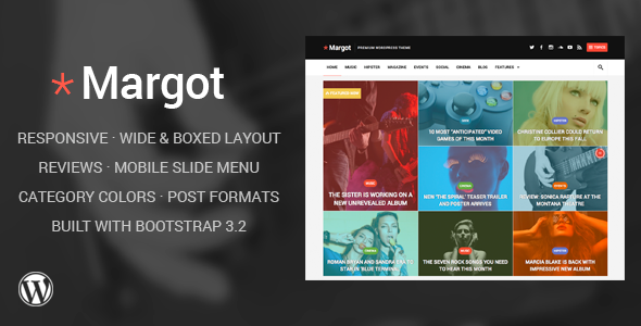 Margot – Responsive WordPress News Theme