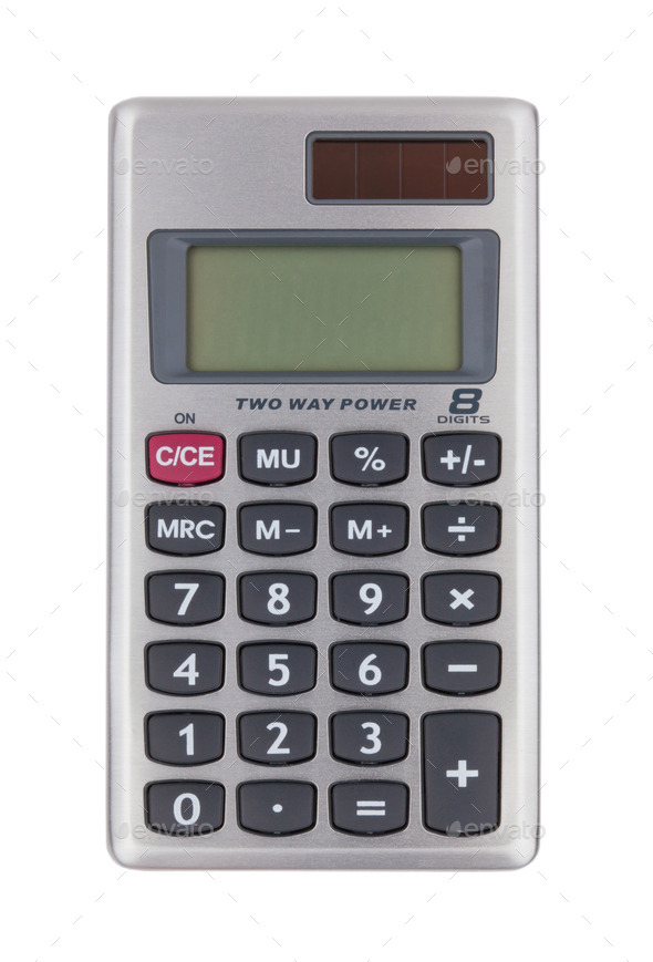 Small digital calculator - Stock Photo - Images
