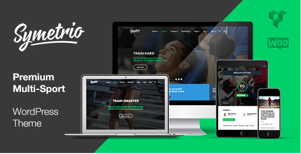 Gym & Fitness WordPress Theme – Symetrio