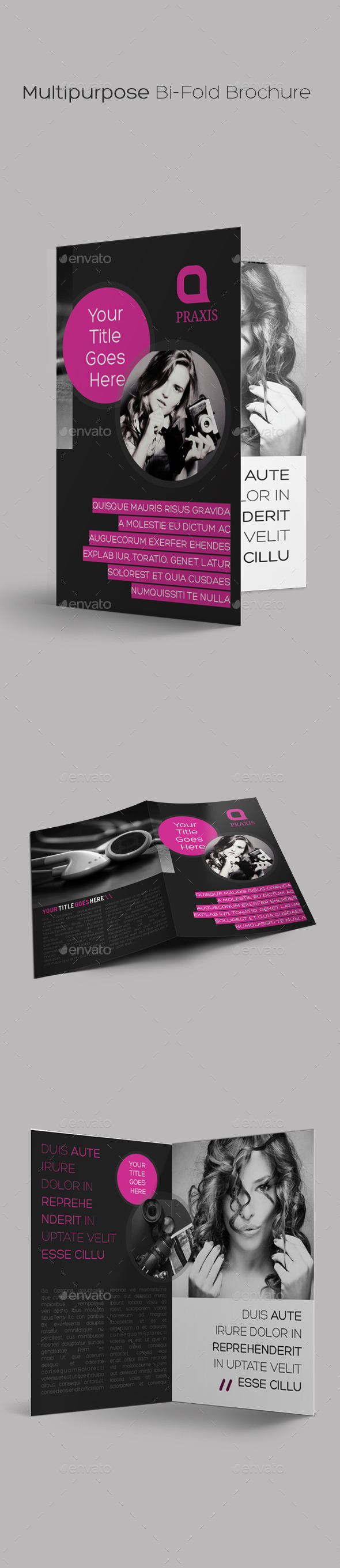 Multipurpose Bi-Fold Brochure - Brochures Print Templates