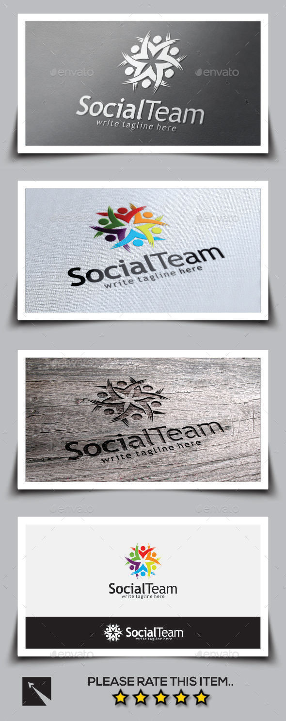 Social Team Logo Template - Humans Logo Templates