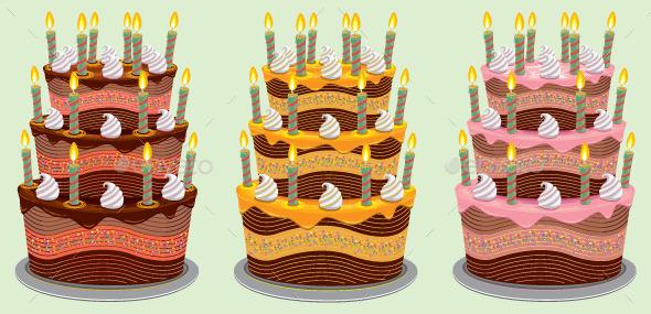 Three Tier Birthday Cake - Birthdays Seasons/Holidays