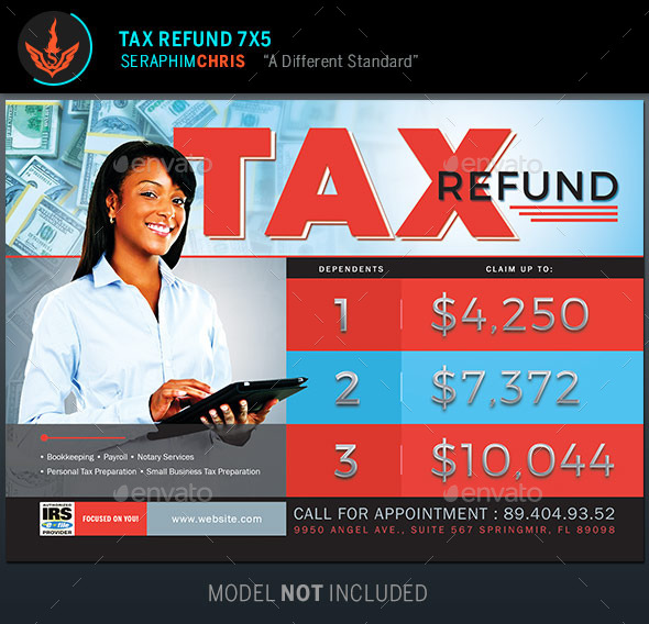 Tax Refund Flyer Template by SeraphimChris | GraphicRiver