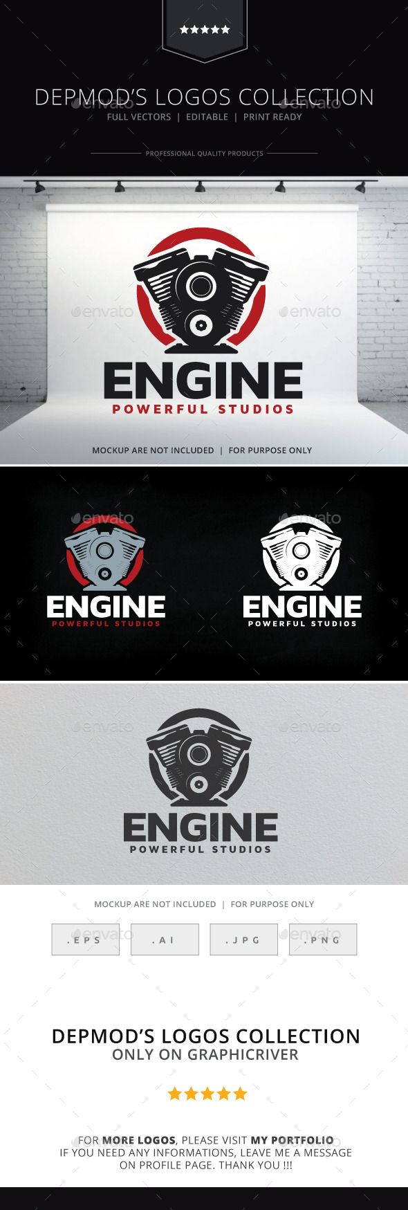 Engine Logo - Objects Logo Templates