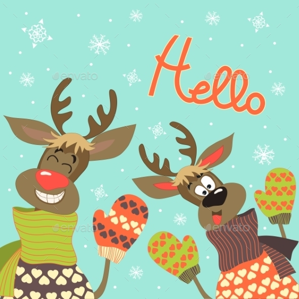 Reindeer Say Hello  - Christmas Seasons/Holidays