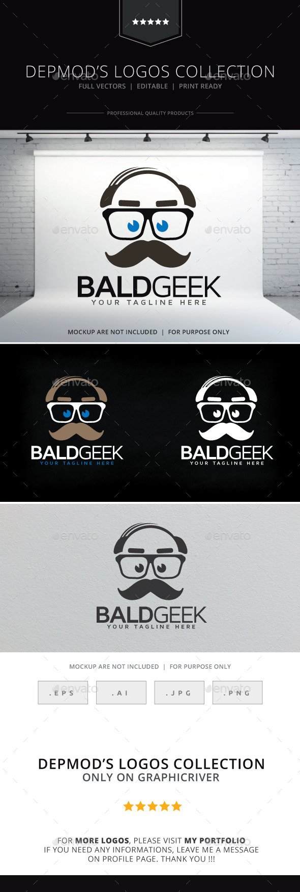Bald Geek Logo - Humans Logo Templates
