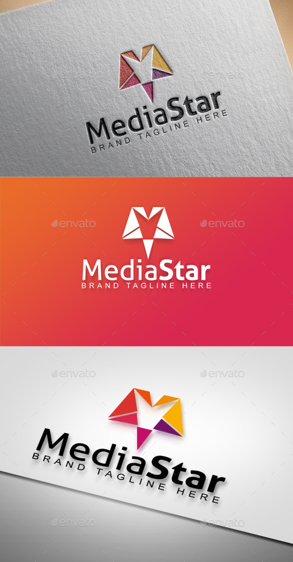 Media Star - Abstract Logo Templates